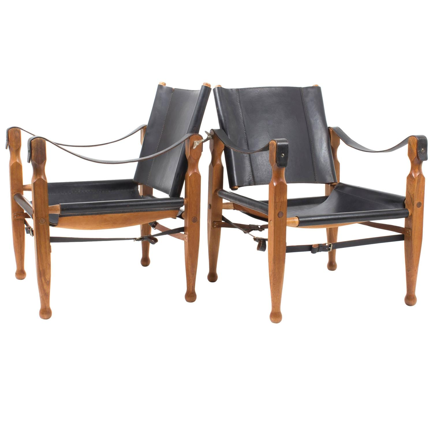 Rare Pair Of Mint Black Carl Auböck Safari Chairs, Designed In 1950s For  Sale At 1stdibs