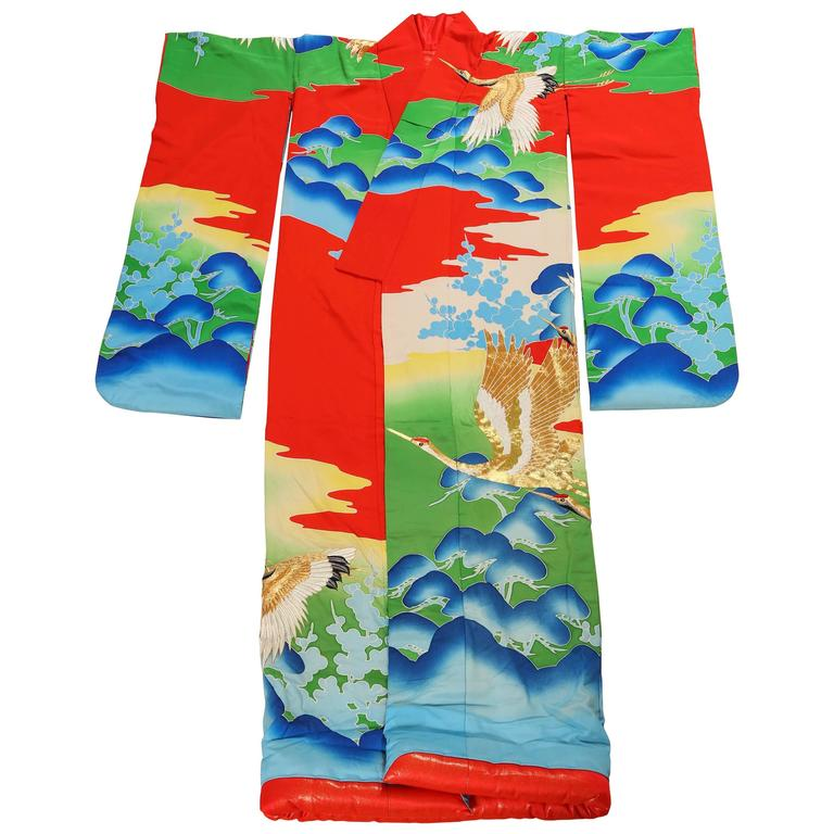 Vintage Collectable Japanese Ceremonial Kimono