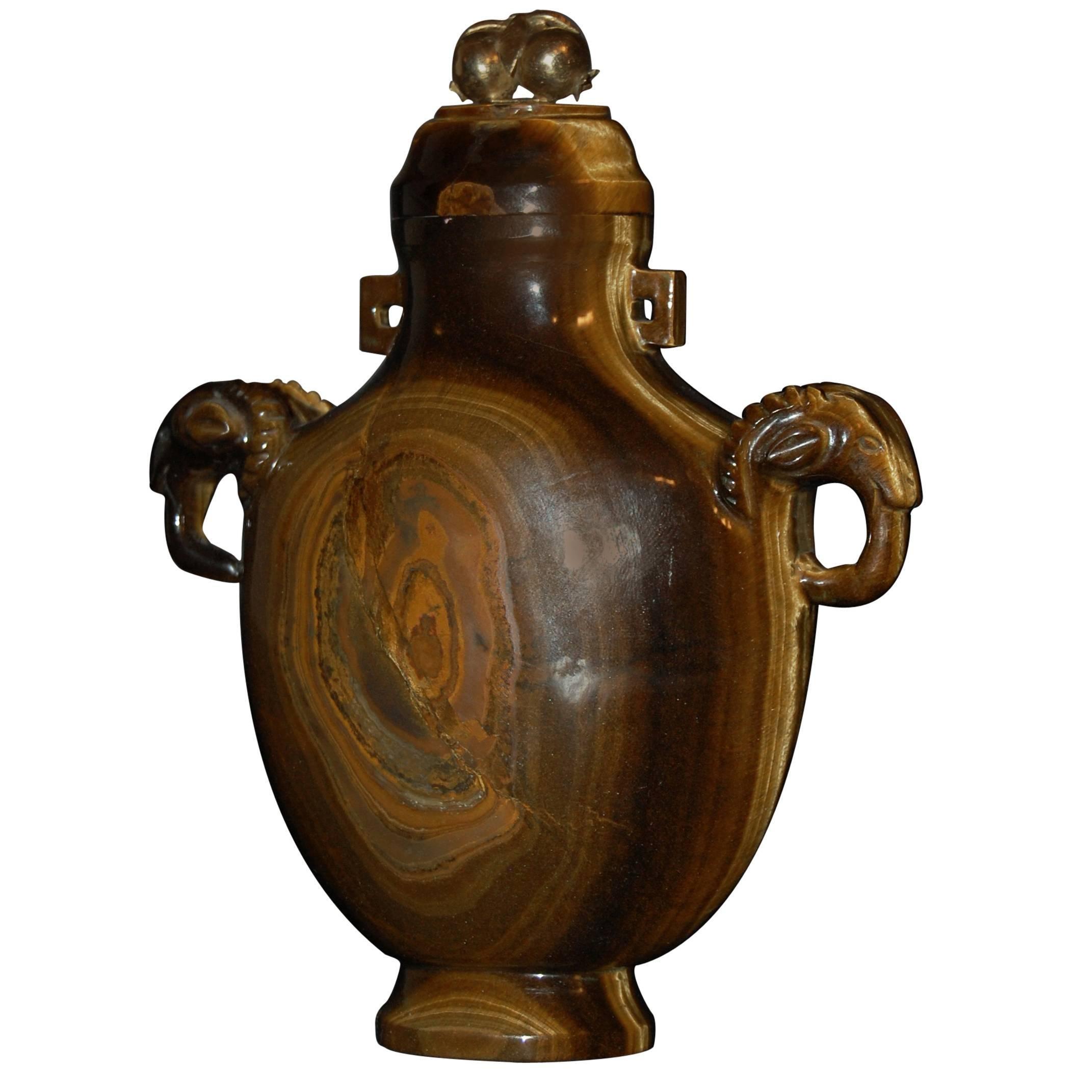 Tiger's-Eye Vase