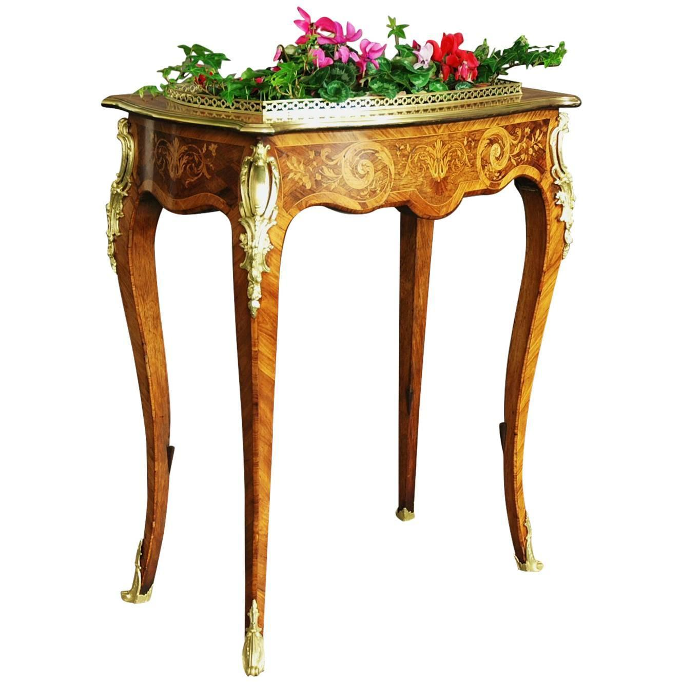 Edwards and Roberts Inlaid Plant Stand or Jardiniere at