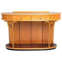 Rounded Italian 1940s Console by Fagioli Firenze
