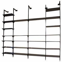 Rare Italian Wall-Mounted Library or Shelving System