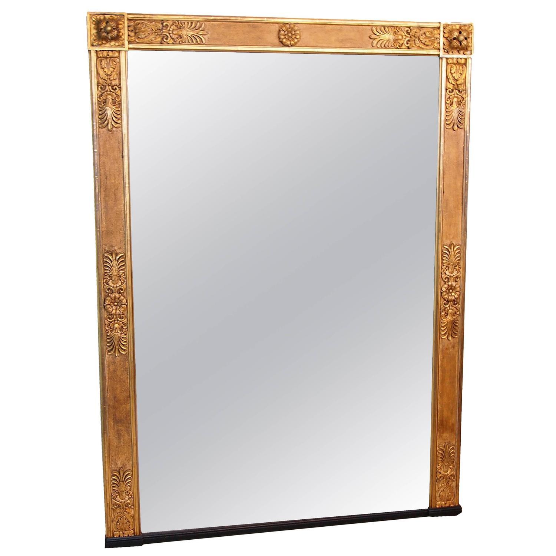 Antique regency gilt overmantle mirror at 1stdibs for Overmantle mirror