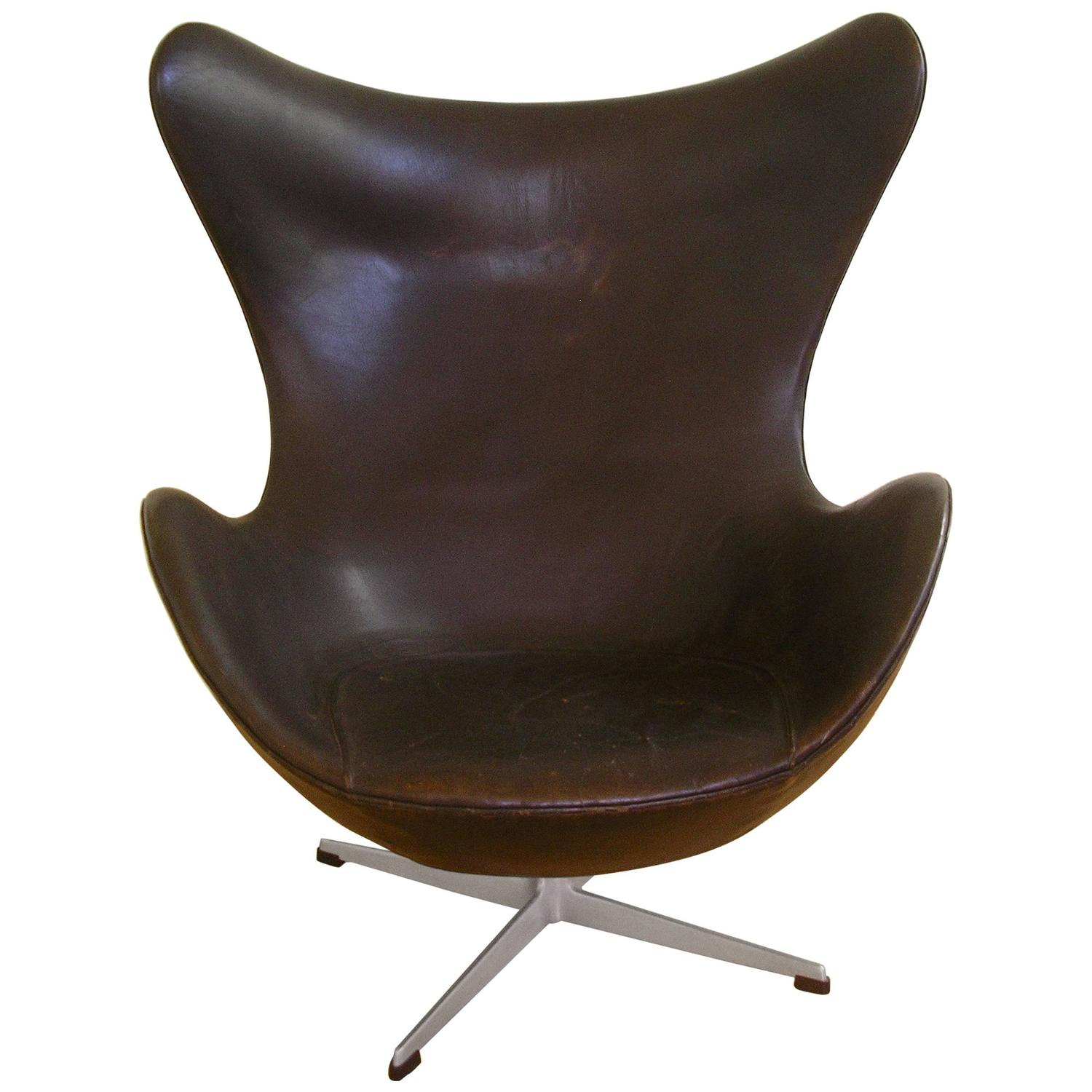 Arne Jacobsen Mid Century Cast Aluminum And Leather