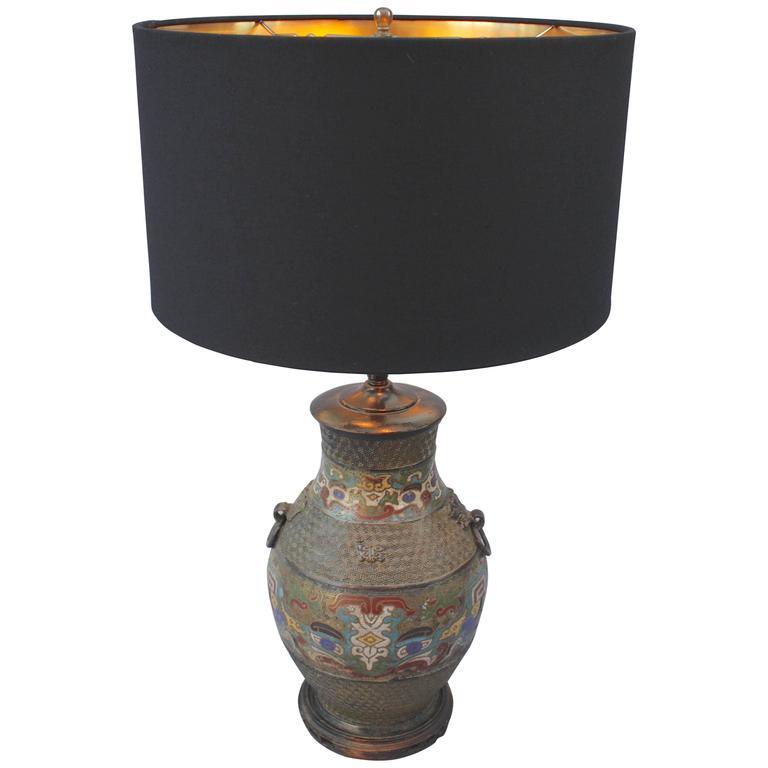antique cloisonne table lamp for sale at 1stdibs. Black Bedroom Furniture Sets. Home Design Ideas