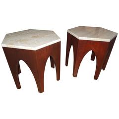 Pair of Probber Walnut Side Tables