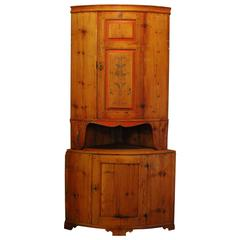 Antique Swedish Corner Cabinet, circa 1820