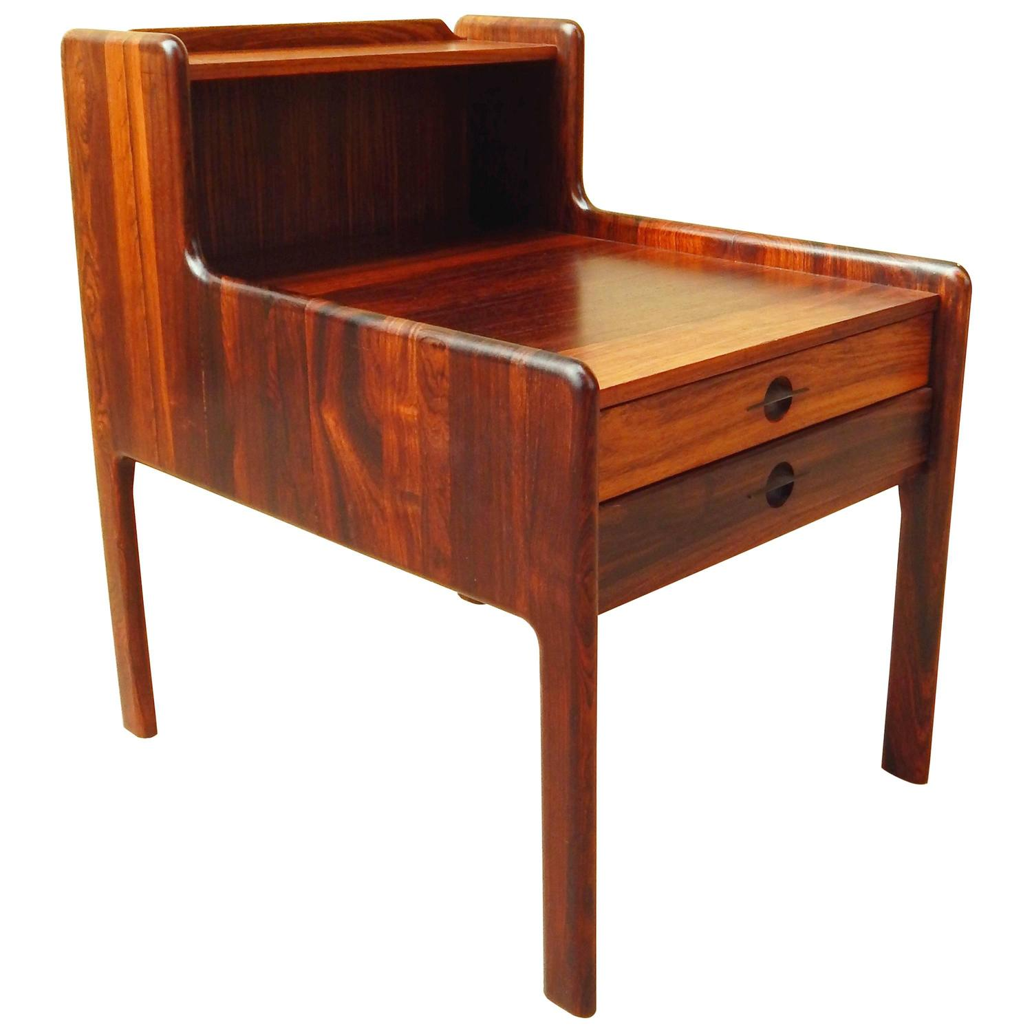Mid Century Rose Wood Side Table Or Small Coffee Table For: Danish Mid-Century Modern Rosewood Side Table, Circa 1960