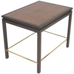 Edward Wormley for Dunbar Mahogany and Brass End Table