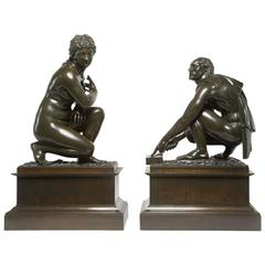 Pair of French Bronzes of Classical Figures