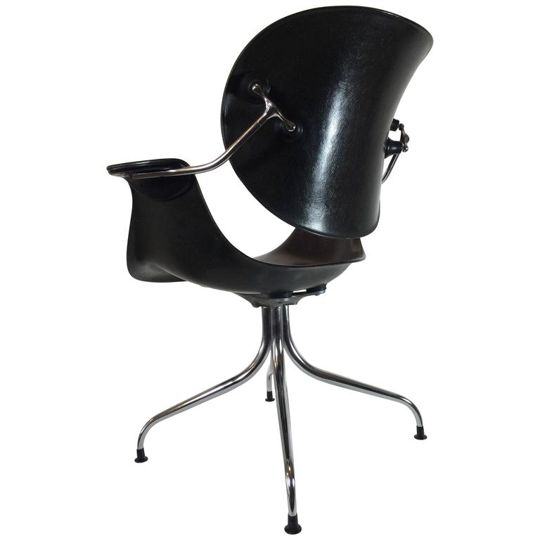 """1958 George Nelson DAA Articulated Back """"Platypus"""" Chair"""