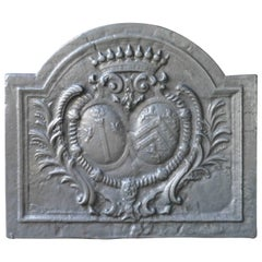 French Fireback with Coat of Arms