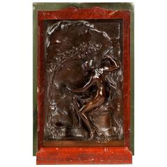 "Henri Chapu French Bronze Sculpture, ""Allegory of Truth"", Thiebaut Freres"