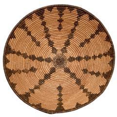 Native American Basketry Tray - Apache, 19th Century