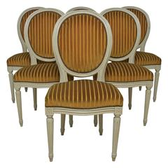 French Set of Six Louis XVI Side Chairs