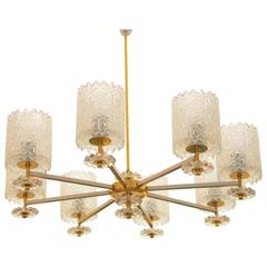 Austrian Large Chandelier From the 1970s