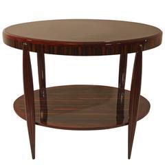 Artdeco Table in mahagony and maccasar ebony