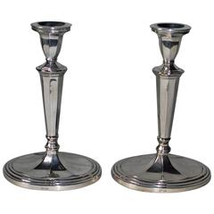 Pair of 20th Century Silver Plated Candlesticks