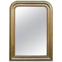 19th Century Gold Gilded French Mirror