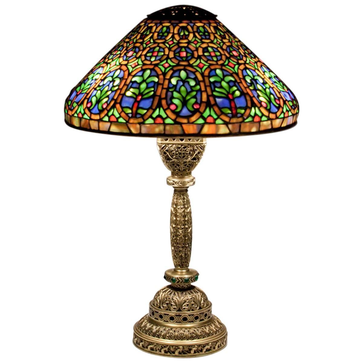 Tiffany Studios Venetian Desk Lamp At 1stdibs