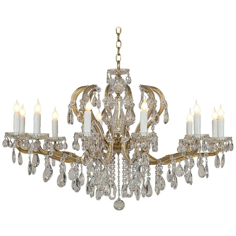 Maria theresa vintage austrian crystal chandelier circa 1940 at 1stdibs maria theresa vintage austrian crystal chandelier circa 1940 for sale aloadofball Image collections