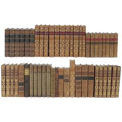 Collection of Assorted Leather Bound Books