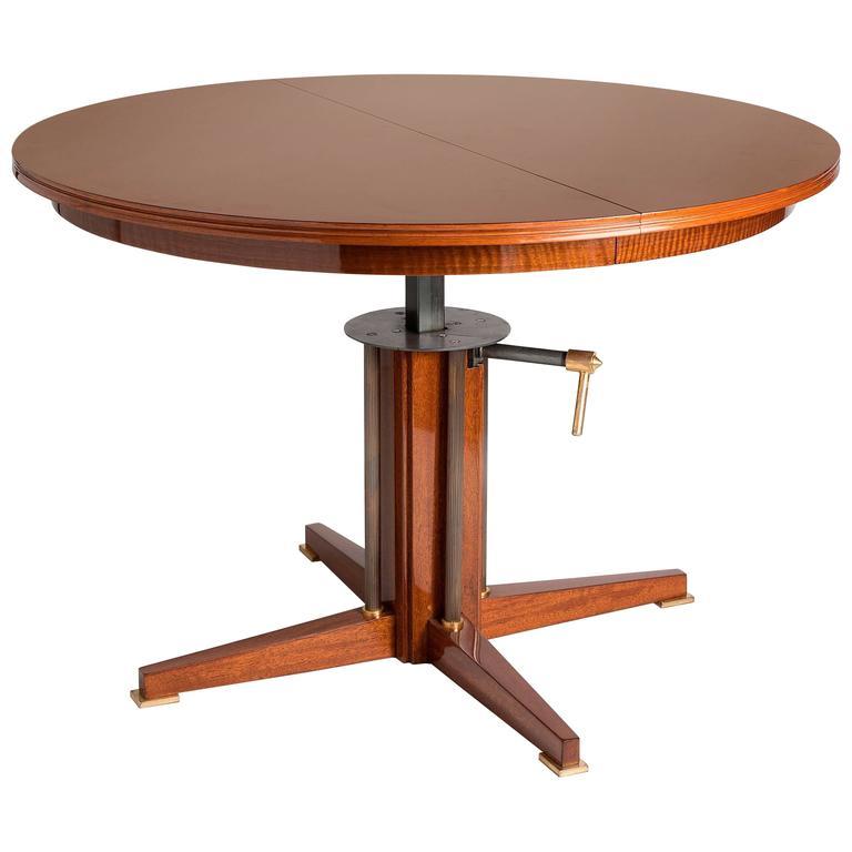 Maison Leleu, Rare Adjustable Table, France, circa 1965 1