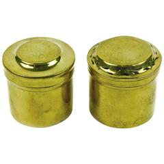 Two French Brass Desk Pots, 18th Century