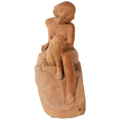 Déco Signed Terracotta Pleasant Nude