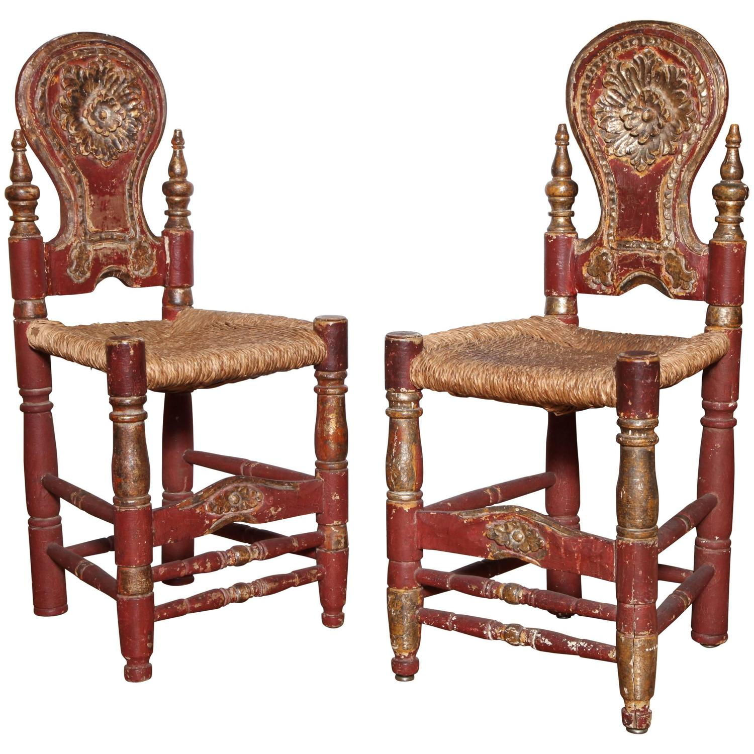 A Pair Of Late 18th Century Spanish Colonial Side Chairs At 1stdibs