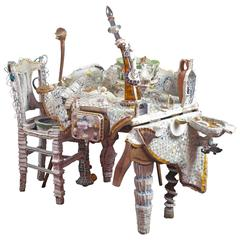 """20th Century Sculpture """"Still Life, Staging a Meal"""" by Monica Machado"""