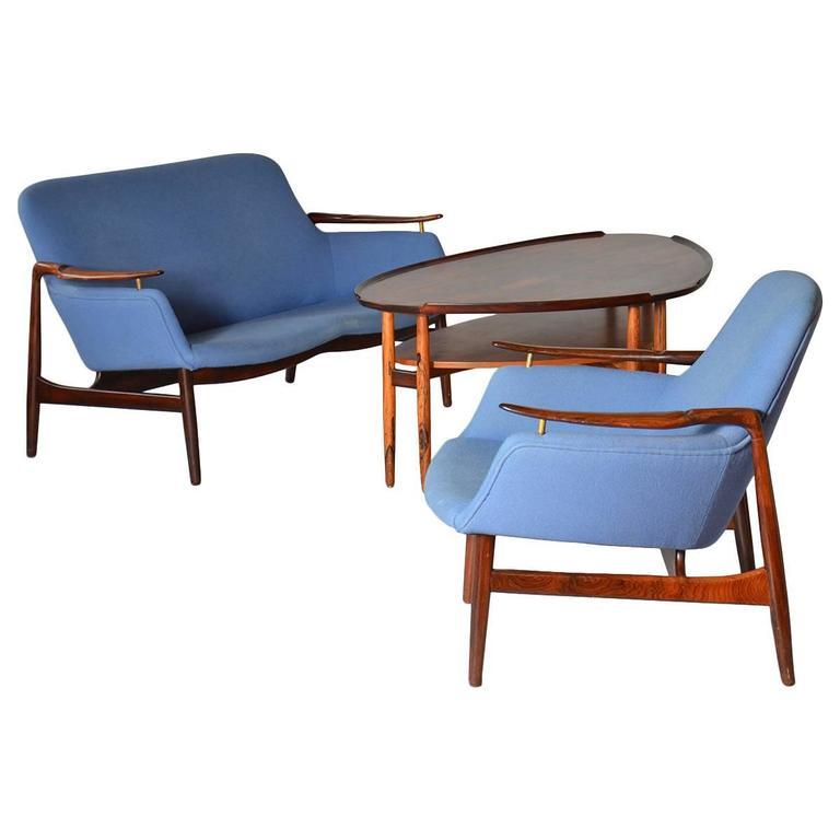 Sofa group by finn juhl at 1stdibs for Living room group sets