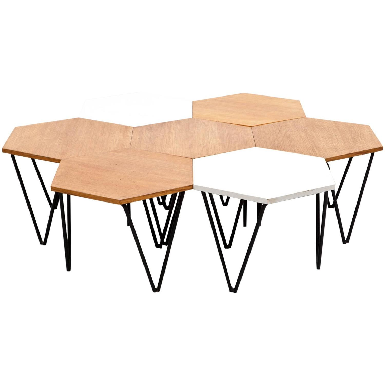 Gio Ponti Segmented Coffee Tables For Sale at 1stdibs