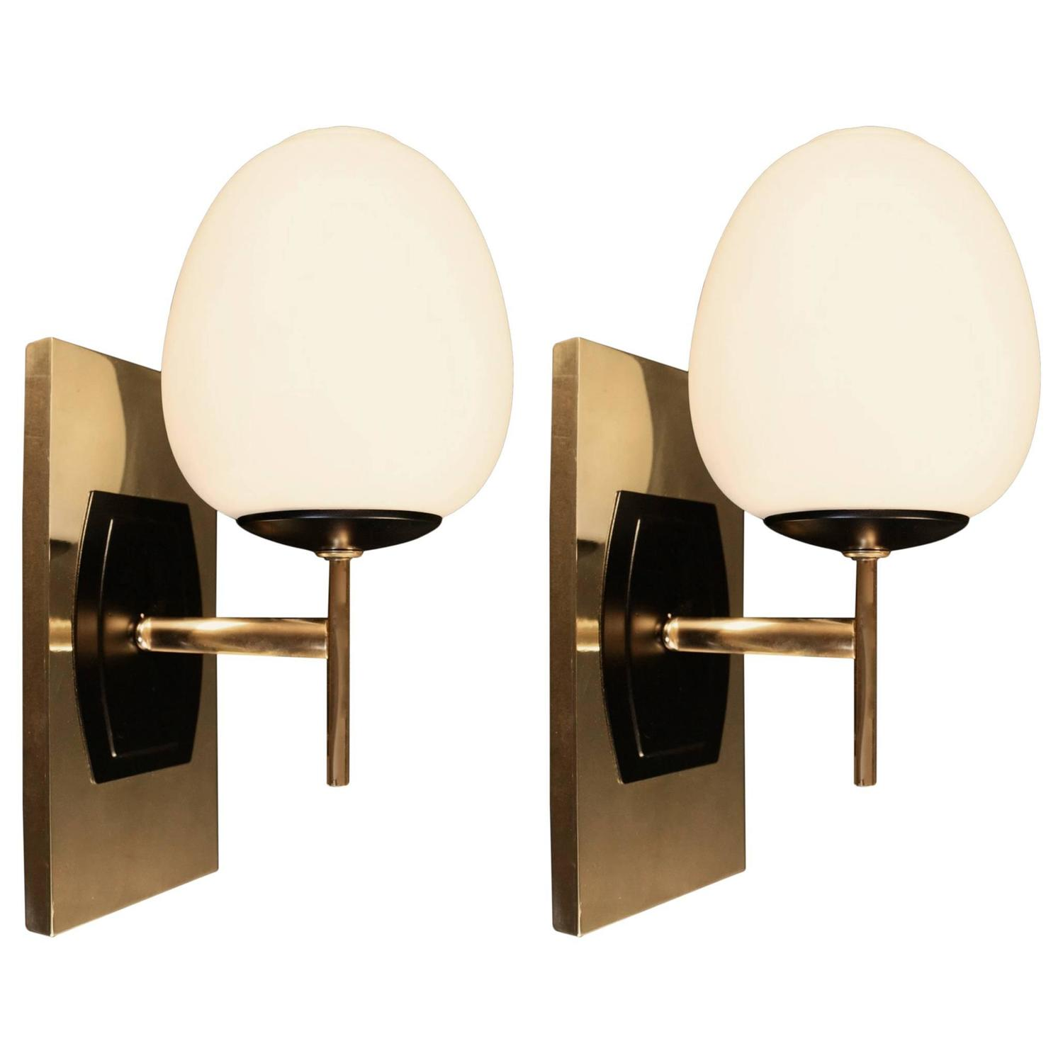 Pair Of 1950s Sconces By Maison Arlus At 1stdibs