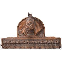 Vintage American Tie Rack with Horse -