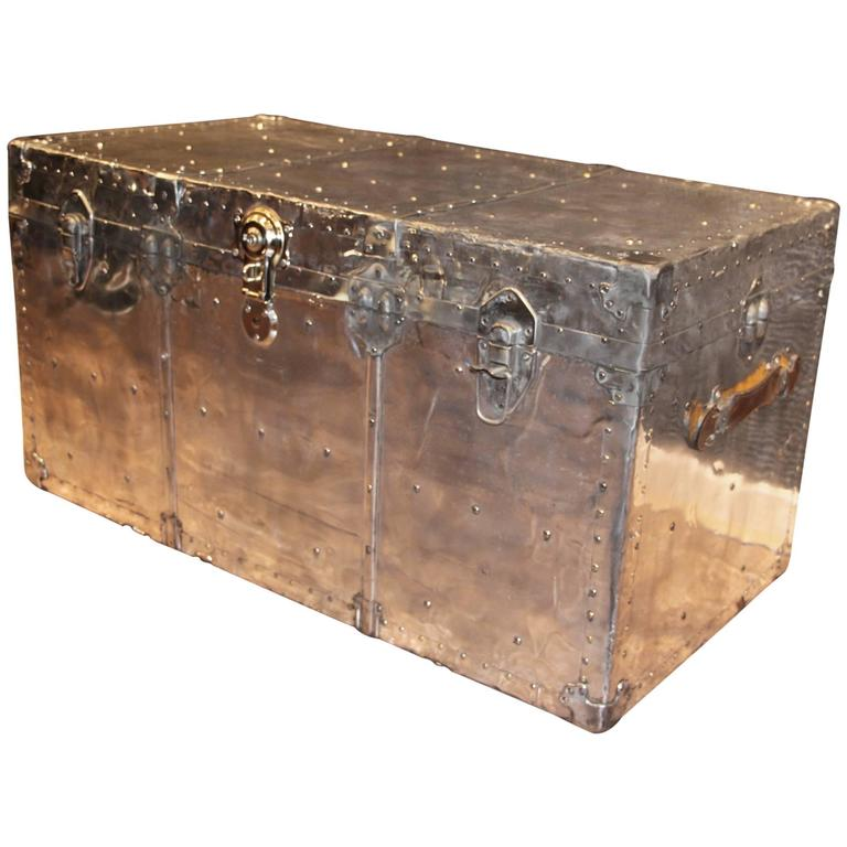 1940's Polished Aluminum Steamer Trunk At 1stdibs