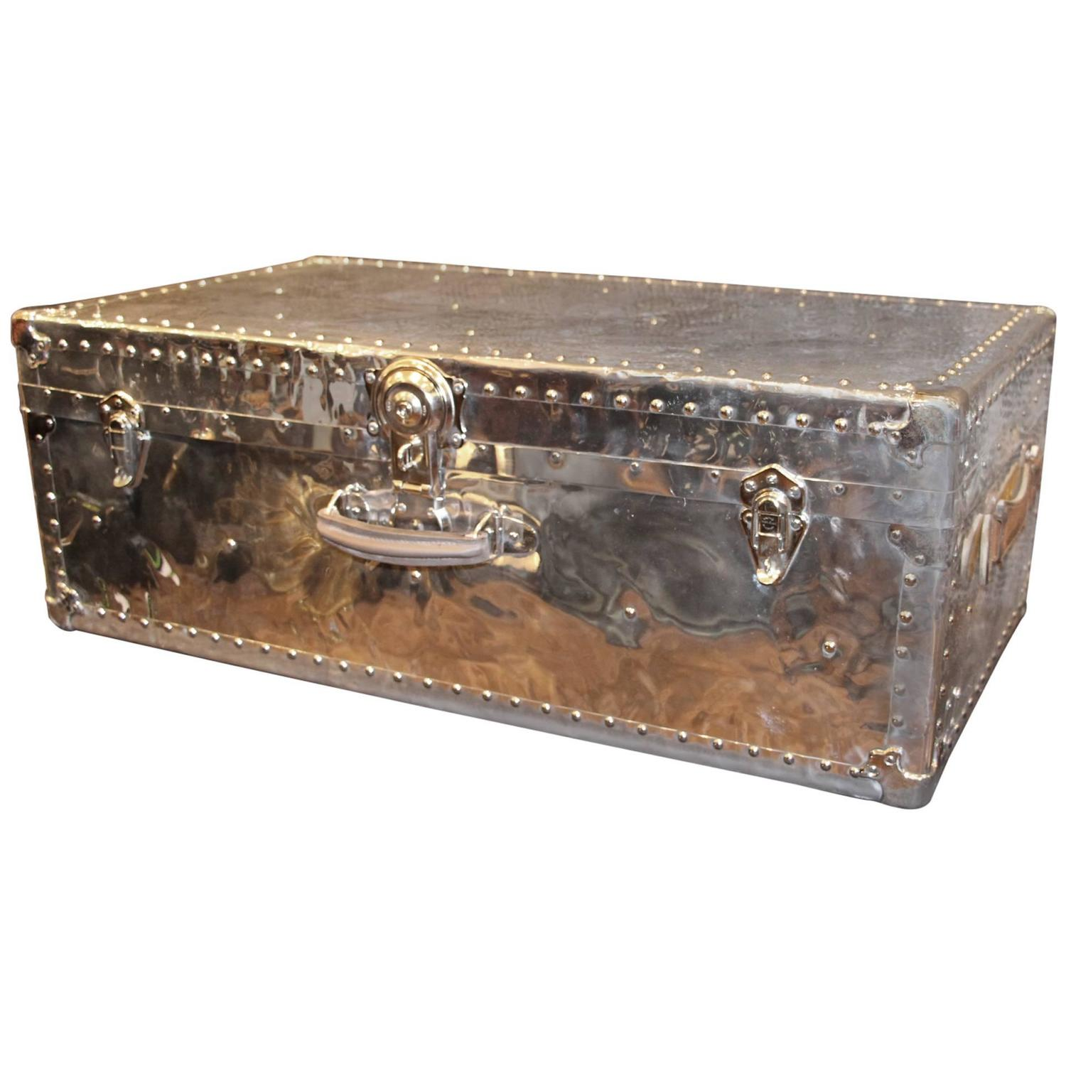 1940 39 S Polished Aluminum Steamer Trunk At 1stdibs