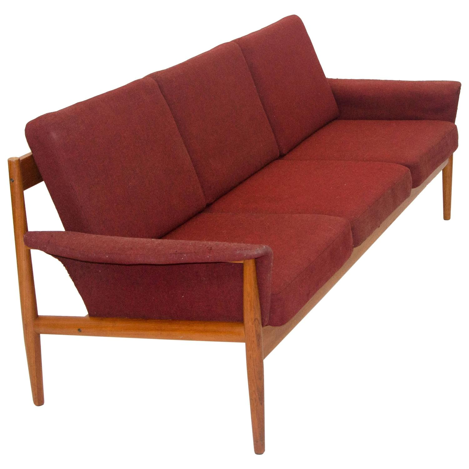 Danish Teak Sofa by Grete Jalk for France and Sons at 1stdibs