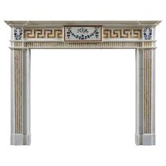 Period Antique Chimneypiece in the Manner of Bossi