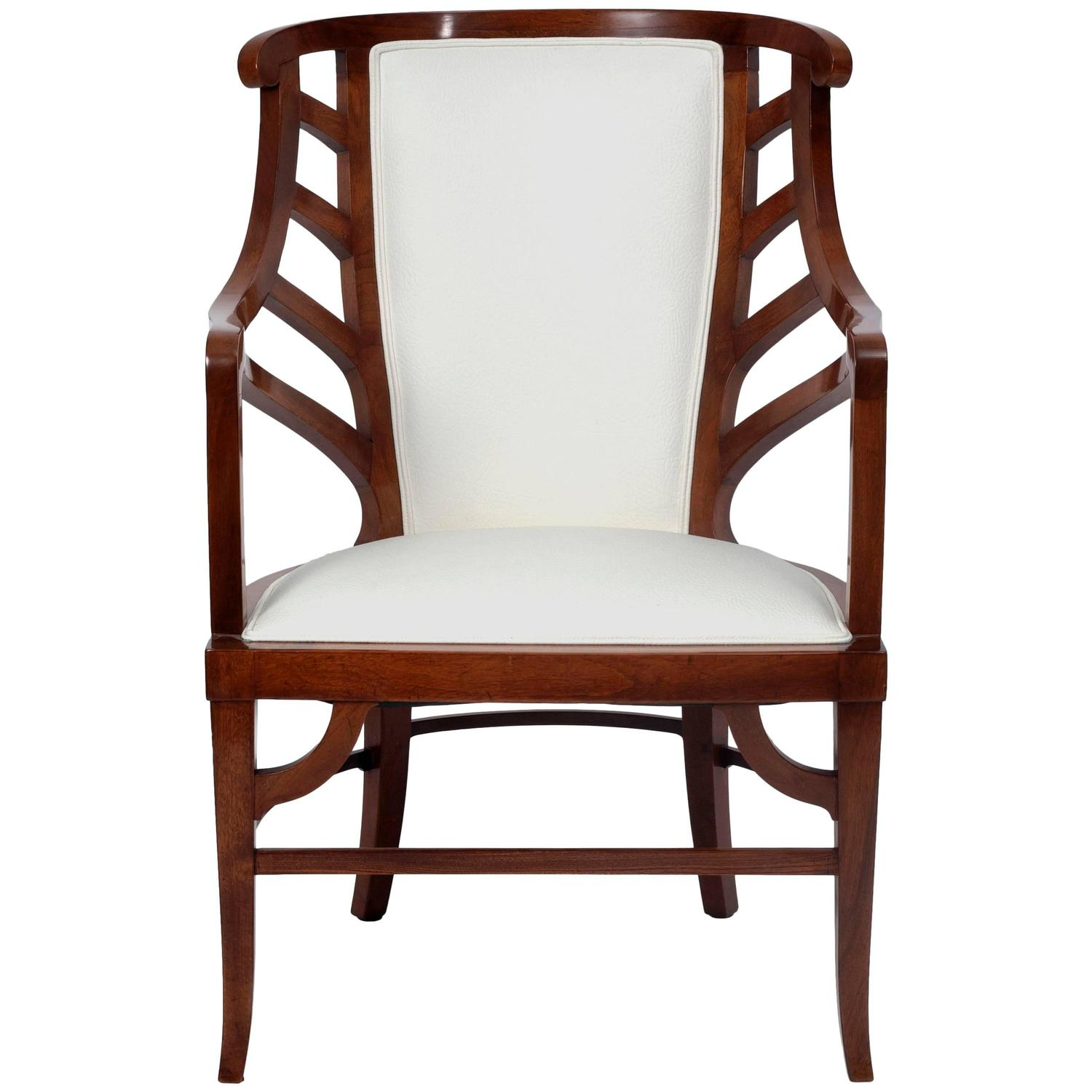 Walnut Art Nouveau Armchair In The Manner Of Henry Van De