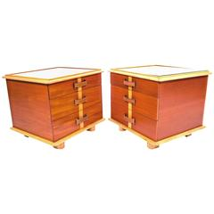Rare Pair of Paul Frankl Station Wagon Series Nightstands