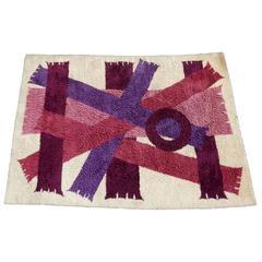 Midcentury Danish Modern Scandinavian Ege Rya Wool Rug