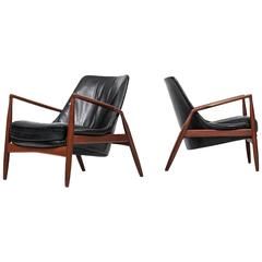Ib Kofod-Larsen Seal Easy Chairs by OPE in Sweden