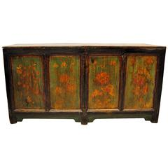 Antique Chinese Green Coffer, circa 1880, Shanxi Province