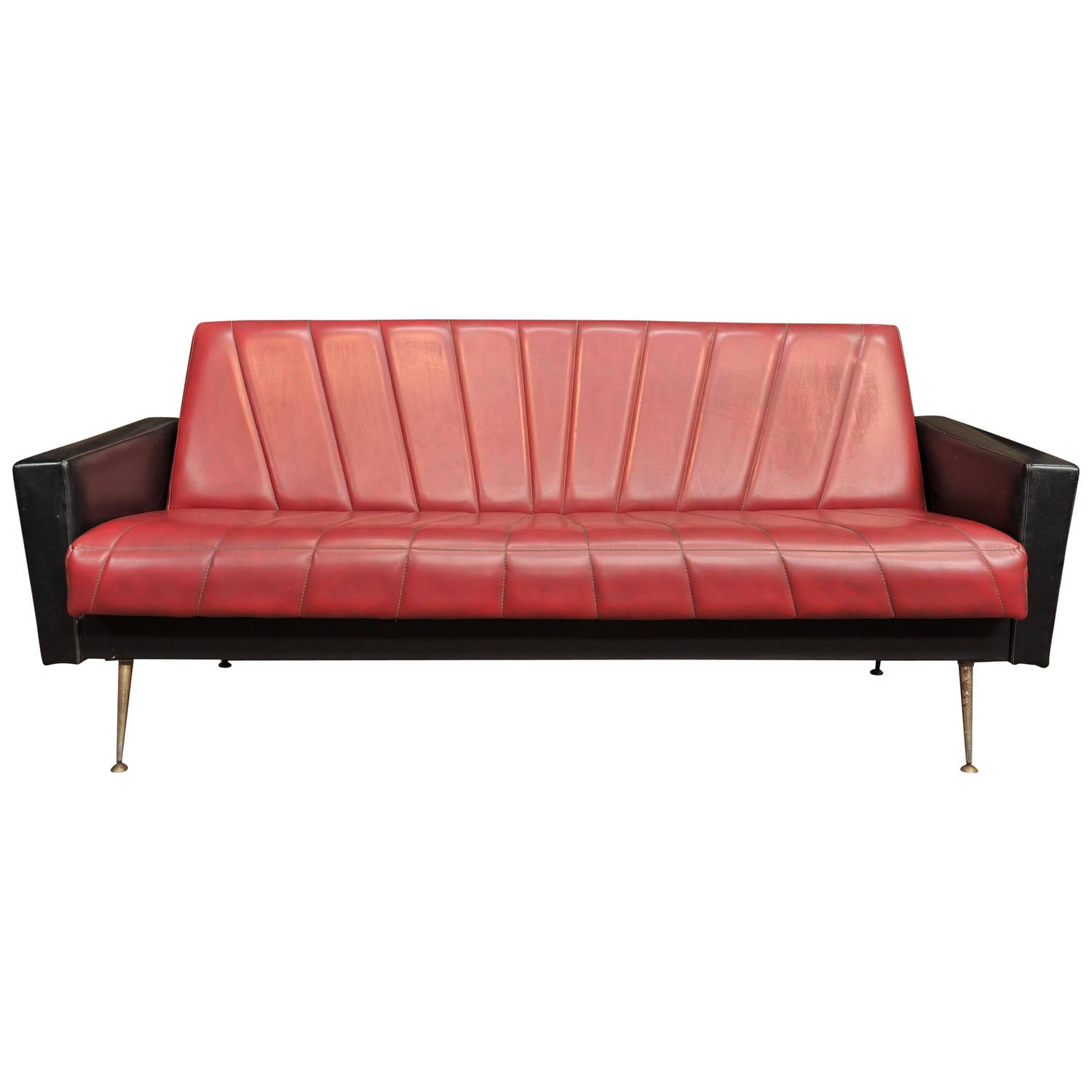 French Vintage Convertible Sofa 1960s At 1stdibs