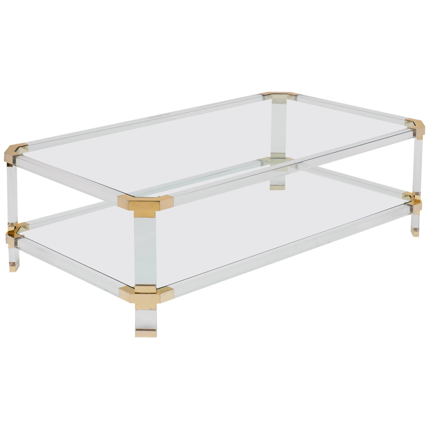 French Modernist Lucite Coffee Table At 1stdibs