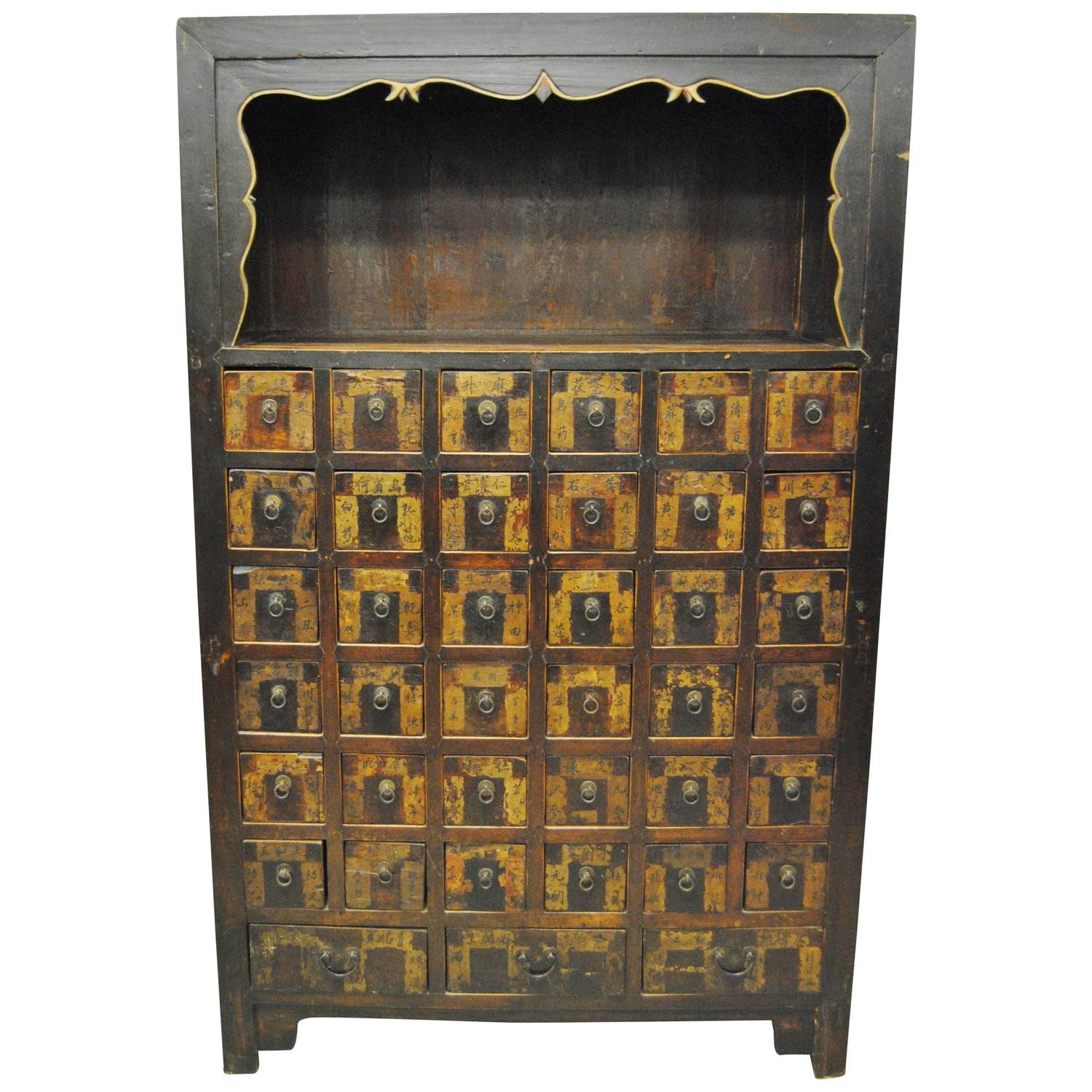 Large Antique Chinese Apothecary, Shanxi Province, Late 19th Century - Antique Asian Furniture - 1,874 For Sale At 1stdibs