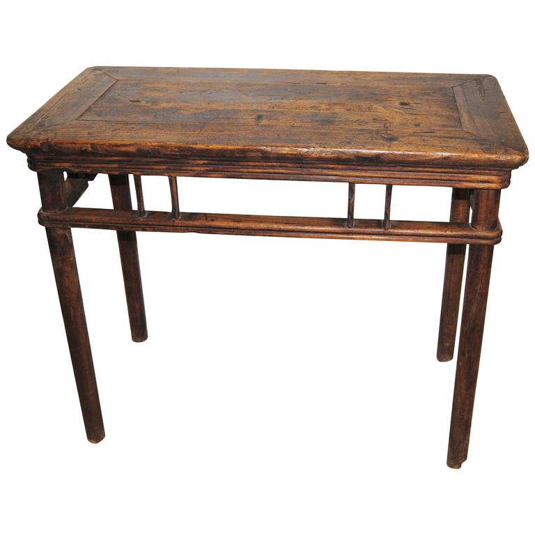 Antique Chinese Elmwood Wine Table Early th Century For Sale at