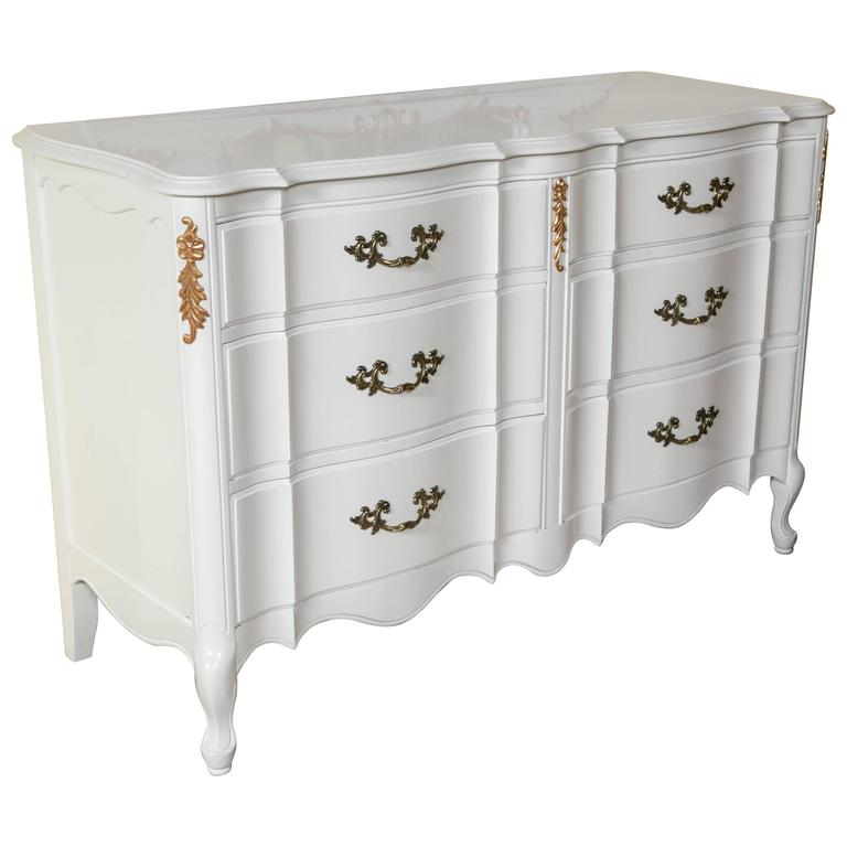 white and gilt paint decorated double commode at 1stdibs. Black Bedroom Furniture Sets. Home Design Ideas