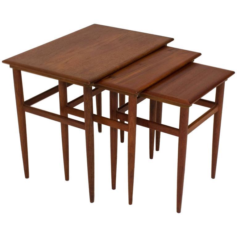Mid-Century Modern Nest of Tables, Denmark, 1960s